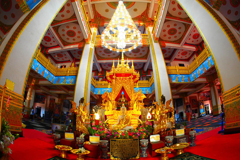 Worship the Wat Nongwang Temple, Khon Kaen.